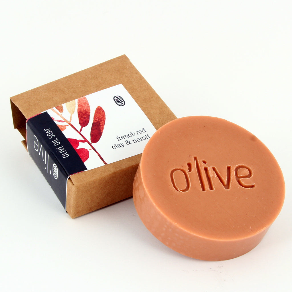 O'live French red clay and Neroli olive oil soap