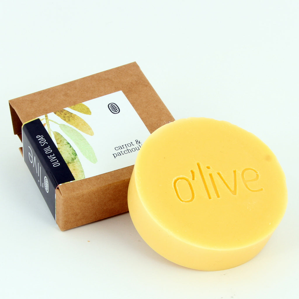 O'live Carrot & Patchouli olive oil soap