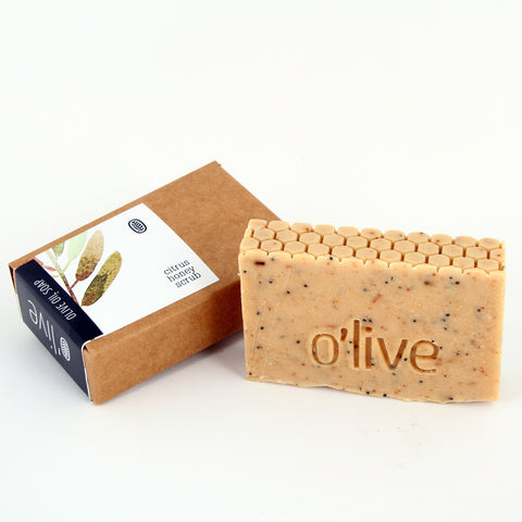 O'live Cape Citrus and Raw Honey Scrub olive oil soap