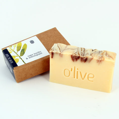 O'live Cape Buchu and Lemongrass olive oil soap