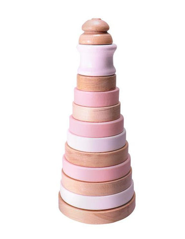 Wooden Stacker Pink