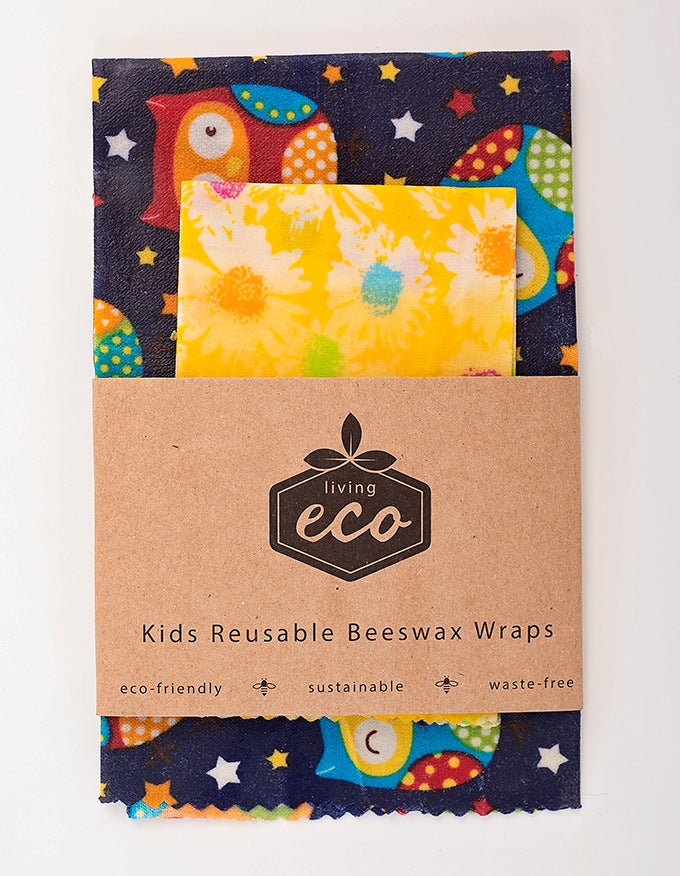 Living Eco Kids Reusable Beeswax Wraps