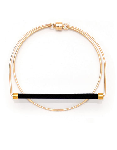 Dorus Mhor Loop Bracelet Gold - black