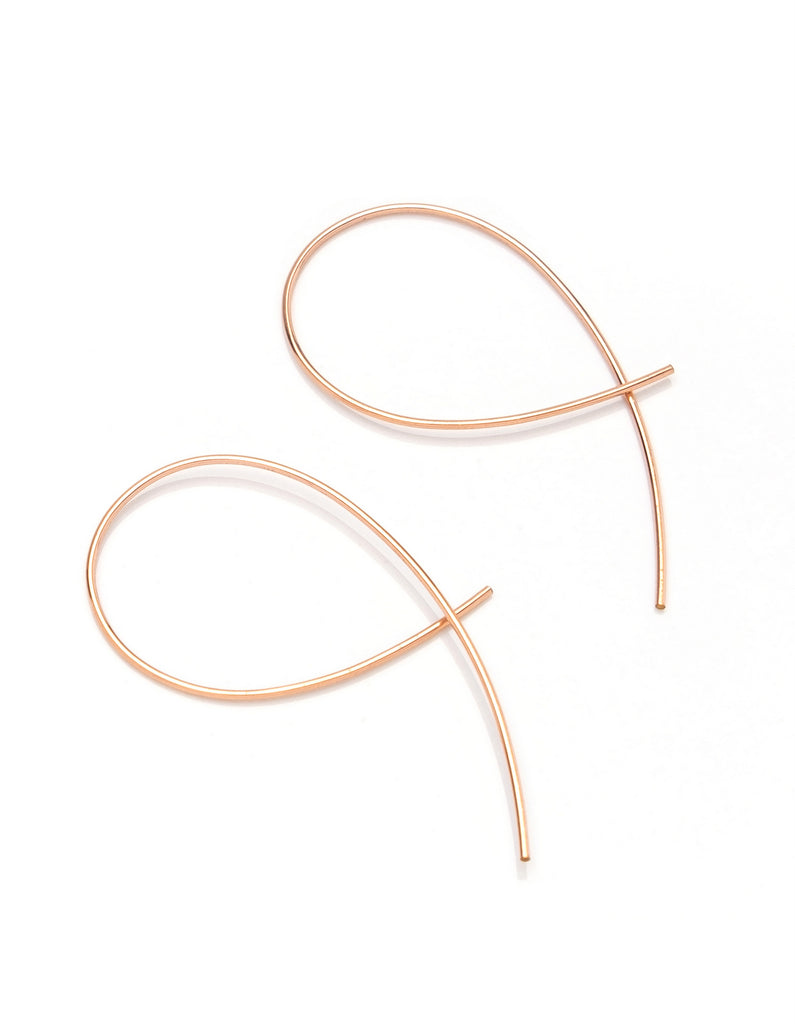 Dorus Mhor Loop Earrings - silver, gold or rose gold