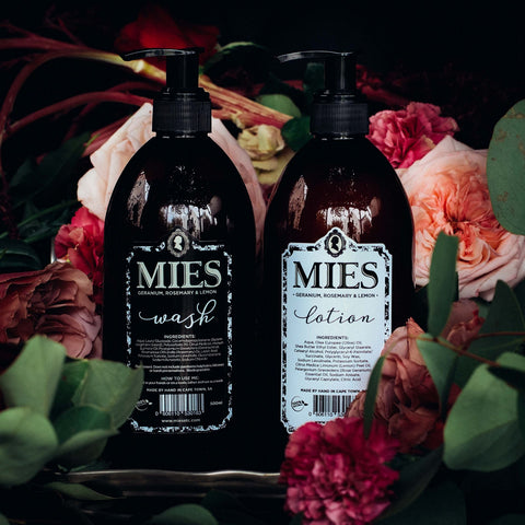 Mies Hand & Body Wash + Lotion gift set