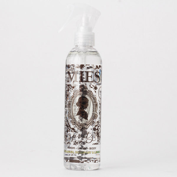Mies Room, linen & body spray - Geranium, Rosemary and Lemon