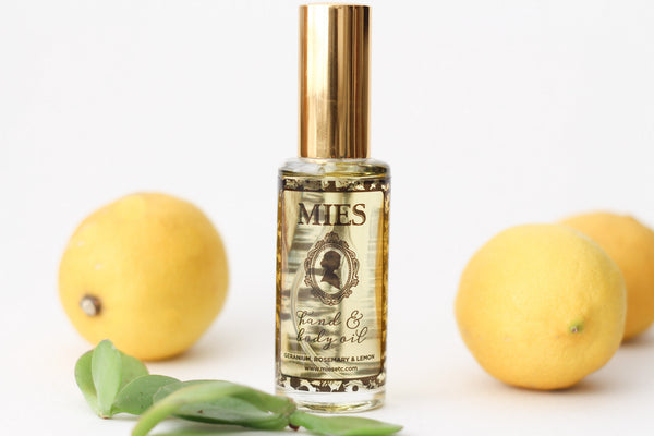 Mies Hand & Body Oil - Geranium Rosemary & Lemon
