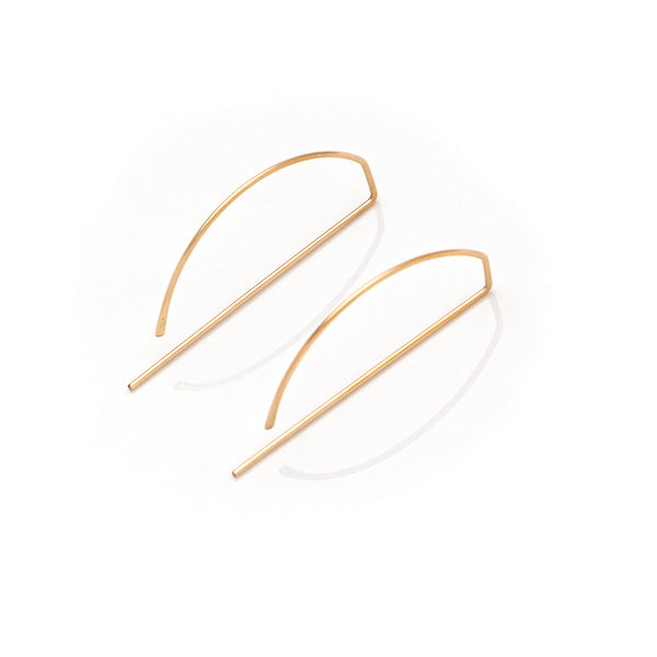 Dorus Mhor P Large Earrings - silver, gold and rose gold