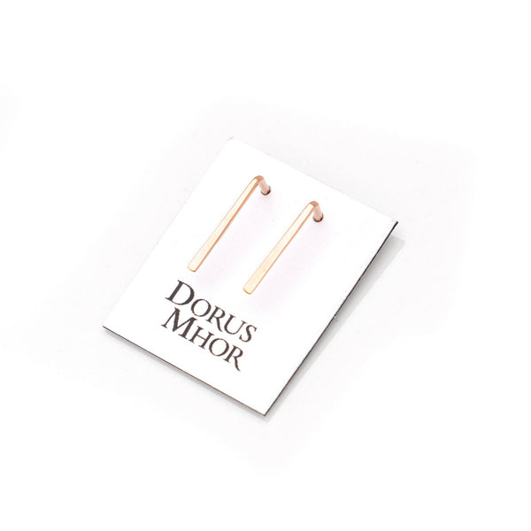 Dorus Mhor Staple Earrings - silver, gold and rose gold