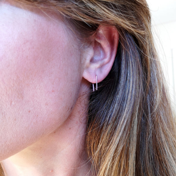 Dorus Mhor P Small Earrings - silver, gold and rose gold