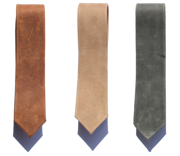Major John Genuine Leather Ties