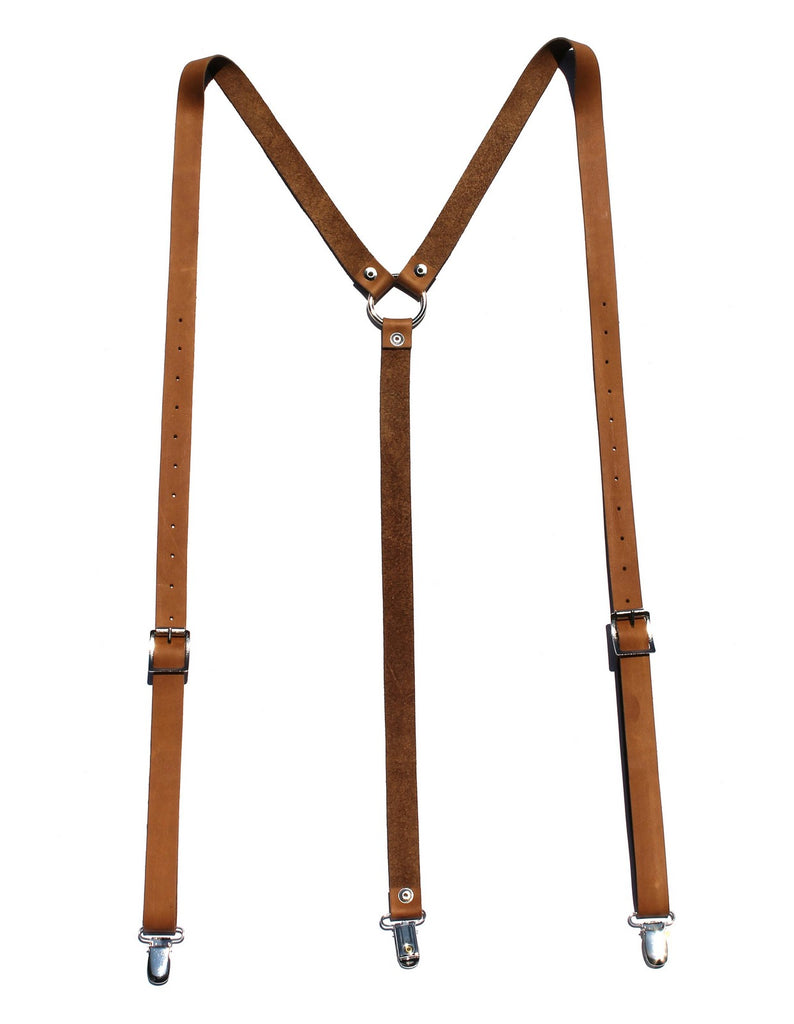 Major John Genuine Leather Suspenders