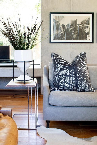 Wanderland Aureum Highveld Graphite Velvet Scatter Cushion