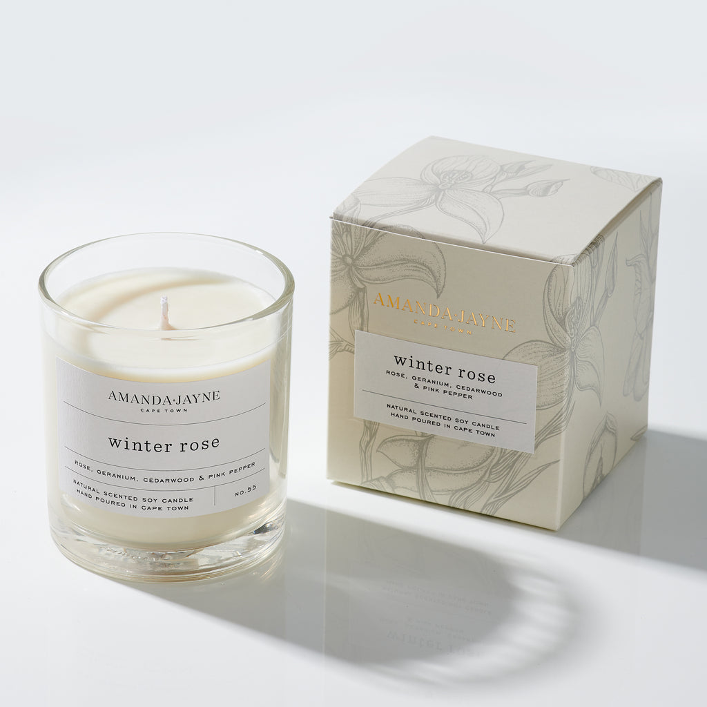 Amanda Jayne Winter Rose Glass Candle