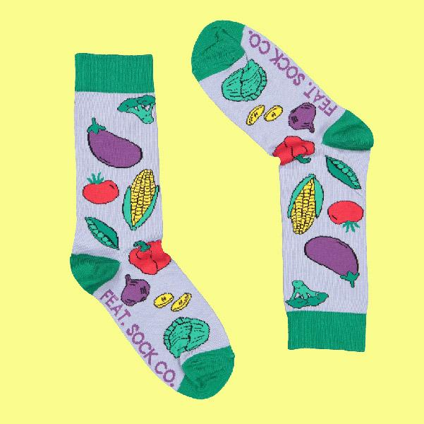 Men's Veggie socks by Savannah Storm
