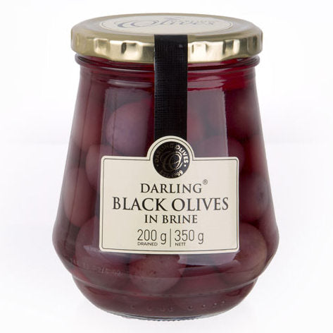 Darling Olives Black Olives in Brine 350g