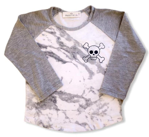 M&C Punk raglan long sleeve tee