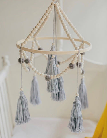 Tiger Lily Baby Mobile with Tassels