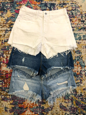 MAVI Rosie Shorts Dark Ripped '90's