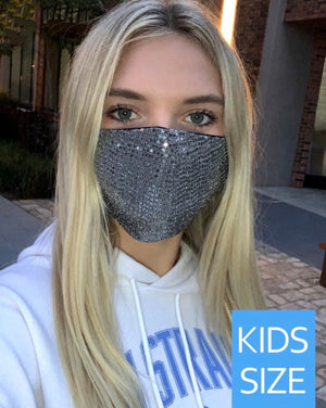 Kids Sequin  Mask with Filter Pocket