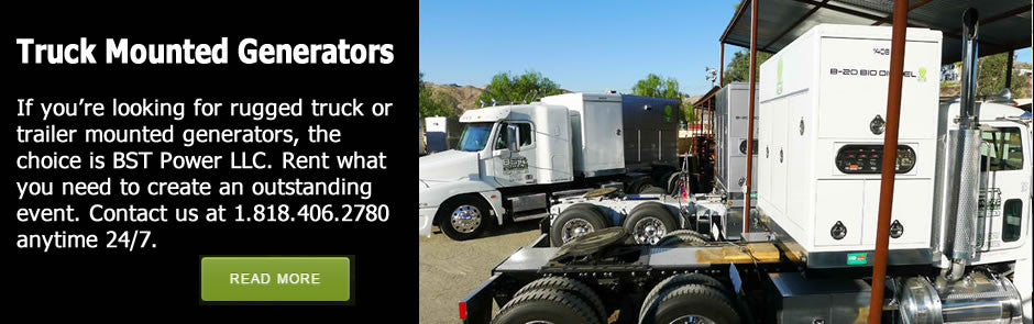 truck mounted generators for rent