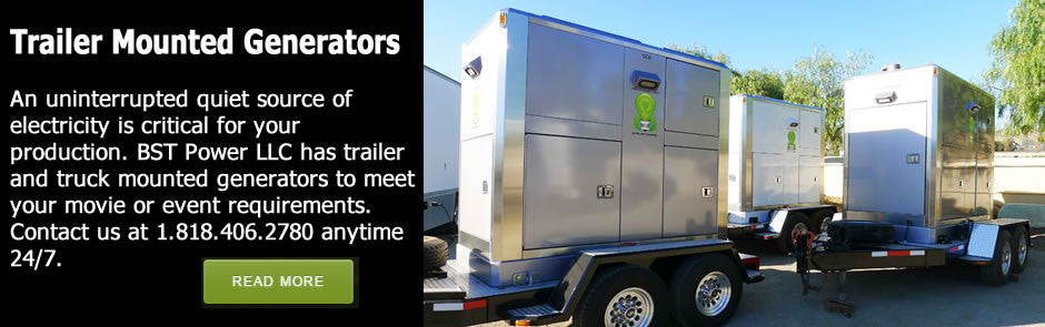 trailer mounted generators for rent