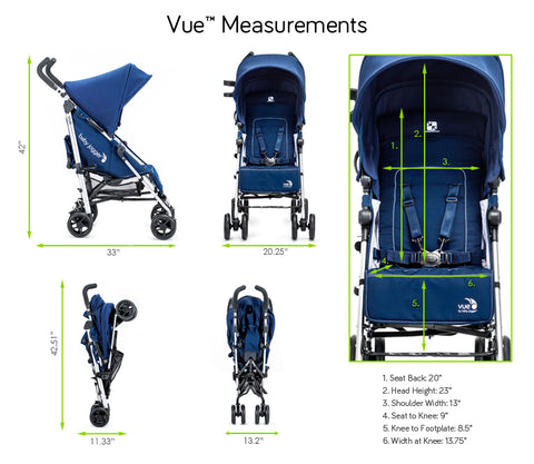 Baby Jogger Vue Measurements