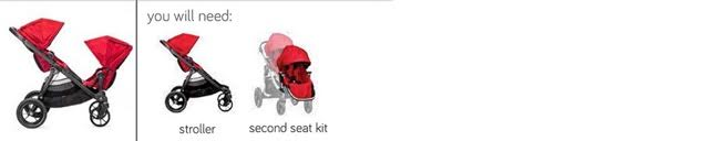 City Select Two Toddler Seats Facing Each Other