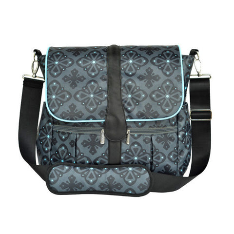 JJ Cole Backpack Diaper Bag - Blue Flare Front View