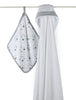 Aden + Anais Hooded Towel and Washcloth Set - PeppyParents.com  - 1
