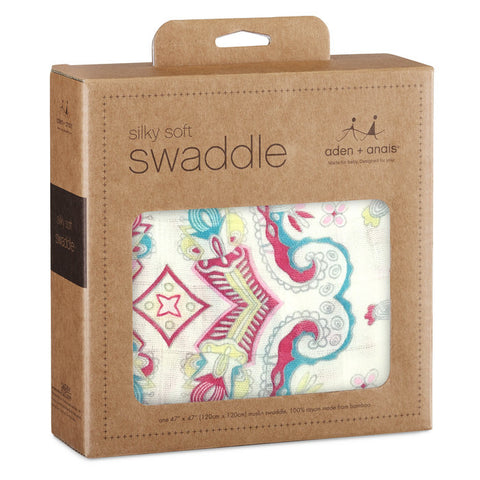 Aden + Anais Silky Soft Swaddle Blanket - Flower Child