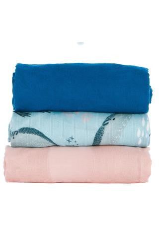 Tula Narwhal Blankets - 3 Pack