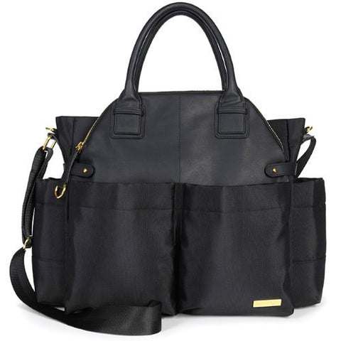 Skip Hop Chelsea Diaper Bag - Black Front View