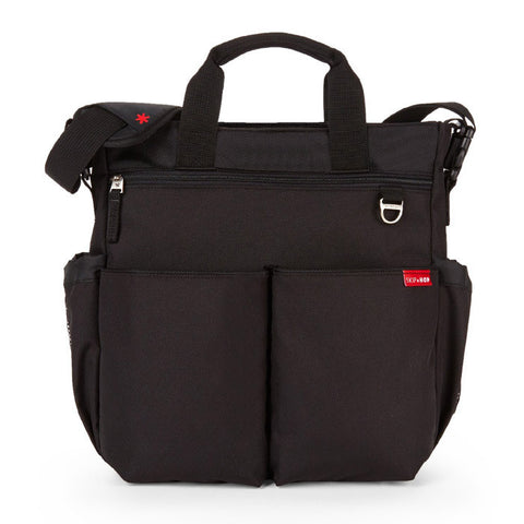 Skip Hop Duo Signature Diaper Bag - Black Front View