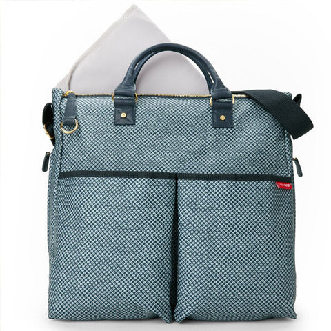 Skip Hop Duo Special Edition Diaper Bag - Blue Point Front View