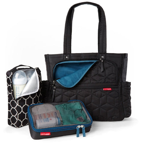 Skip Hop Forma Diaper Bag - Front View with Accessories