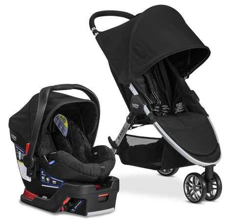 Britax B-Agile Travel System with B-Safe 35 Car Seat - PeppyParents.com  - 1