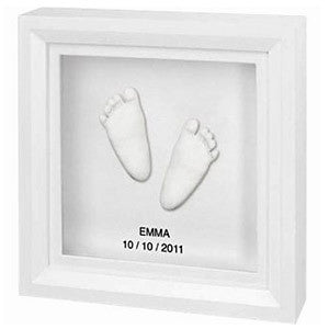 BabyArt Baby Handprint / Footprint 3D Sculpture Framed Keepsake - PeppyParents.com