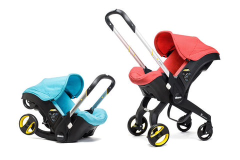 Doona Car Seat Stroller - Folded and Upright
