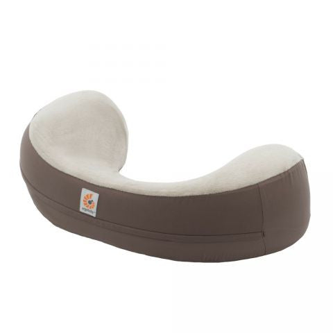 ERGObaby Natural Curve Nursing Pillow with Brown Cover - PeppyParents.com