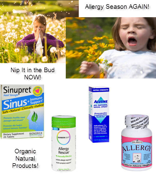 Allergy Season Again!  Nip It In The Bud Now! 10% Discount Too!
