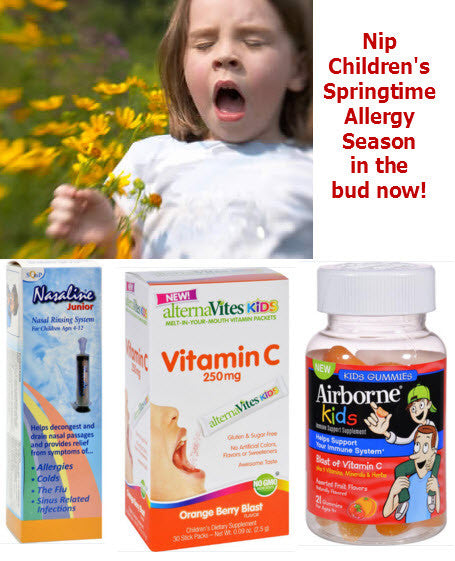 First Day of Spring!   Allergies and Kids - 10% Discount