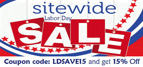 15% Off Sitewide Labor Day Sale!