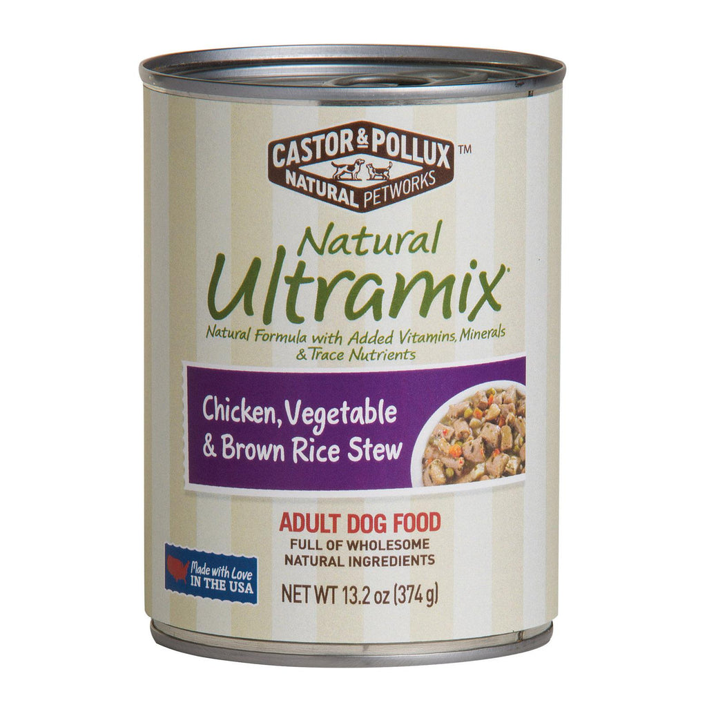 Castor And Pollux Rice Canned Dog Food - Vegetable And Brown - Case Of 12 - 13.2 Oz.