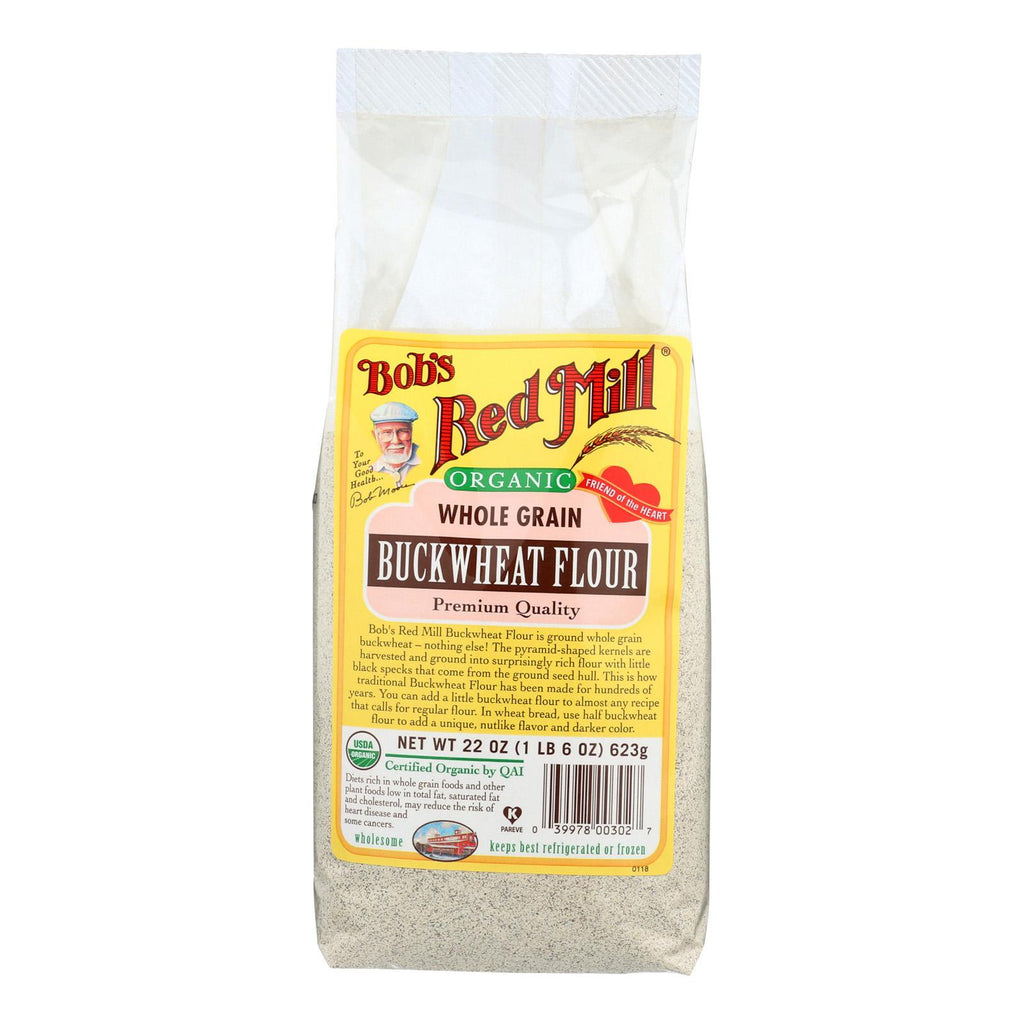 Bob's Red Mill Organic Buckwheat Flour - 22 Oz - Case Of 4