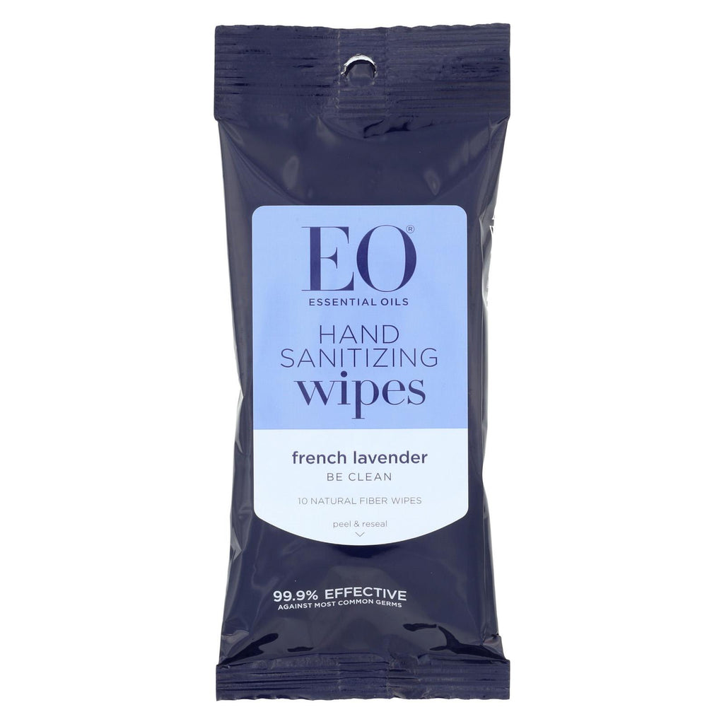 Eo Products Hand Sanitizer Wipes Display Center - Lavender - Case Of 6 - 10 Pack