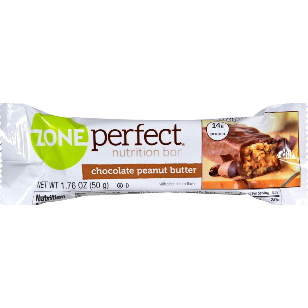 Zone Nutrition Bar - Chocolate Peanut Butter - Case Of 12 - 1.76 Oz - Default Title - Cooking, Foods & Beverages - Zone