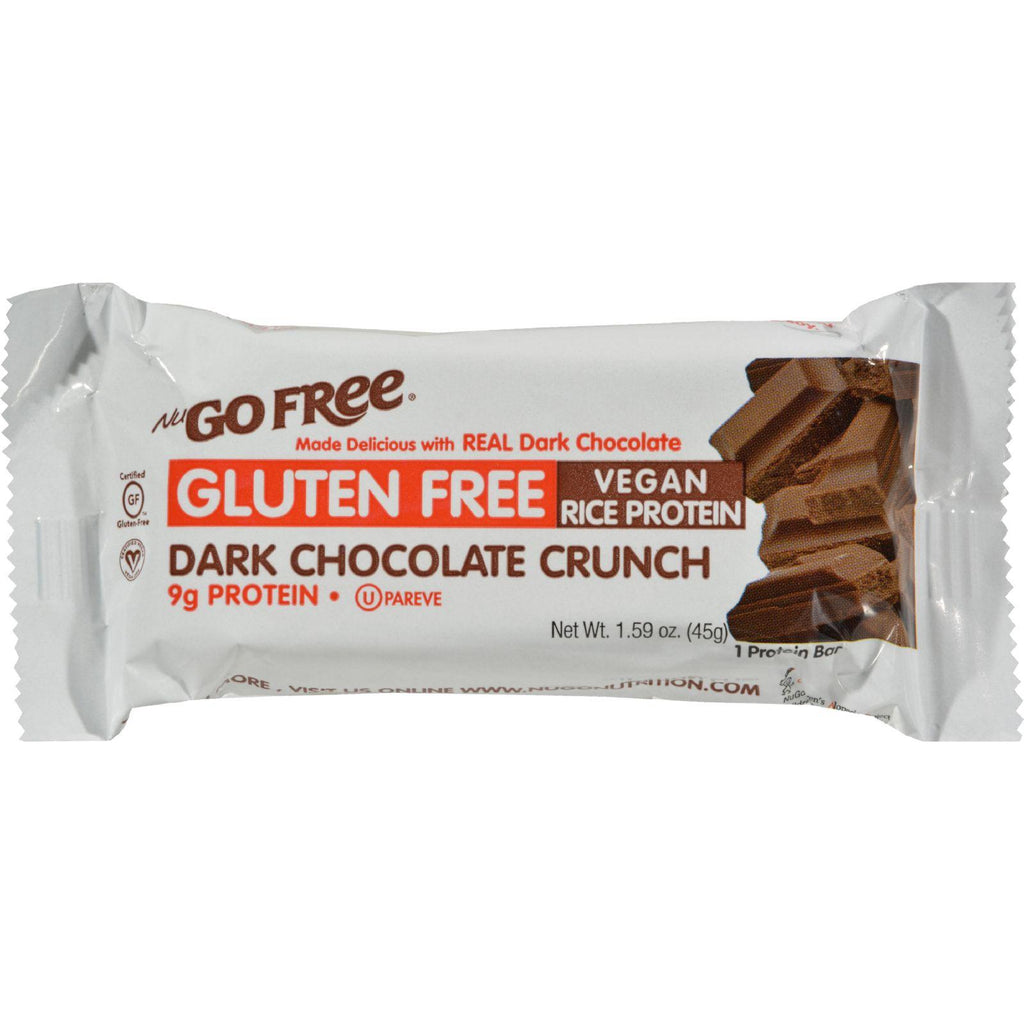 Nugo Nutrition Bar - Gluten Free Dark Chocolate Crunch - Case Of 12 - 45 Grams - Default Title - Cooking, Foods & Beverages - Nugo Nutrition