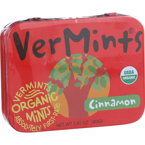 Vermints Breath Mints - All Natural - Cinnamint - 1.41 Oz - Case Of 6