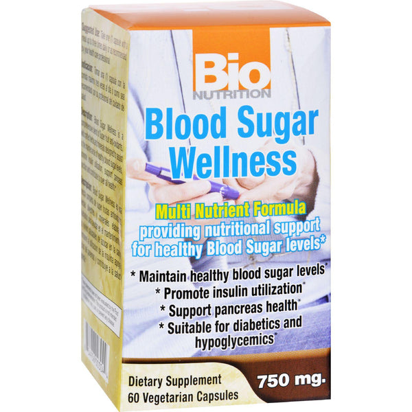 Bio Nutrition Blood Sugar Wellness - 60 Vegetarian Capsules